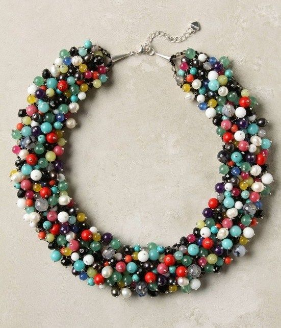 Anthro Knockoff DIY beaded necklace.
