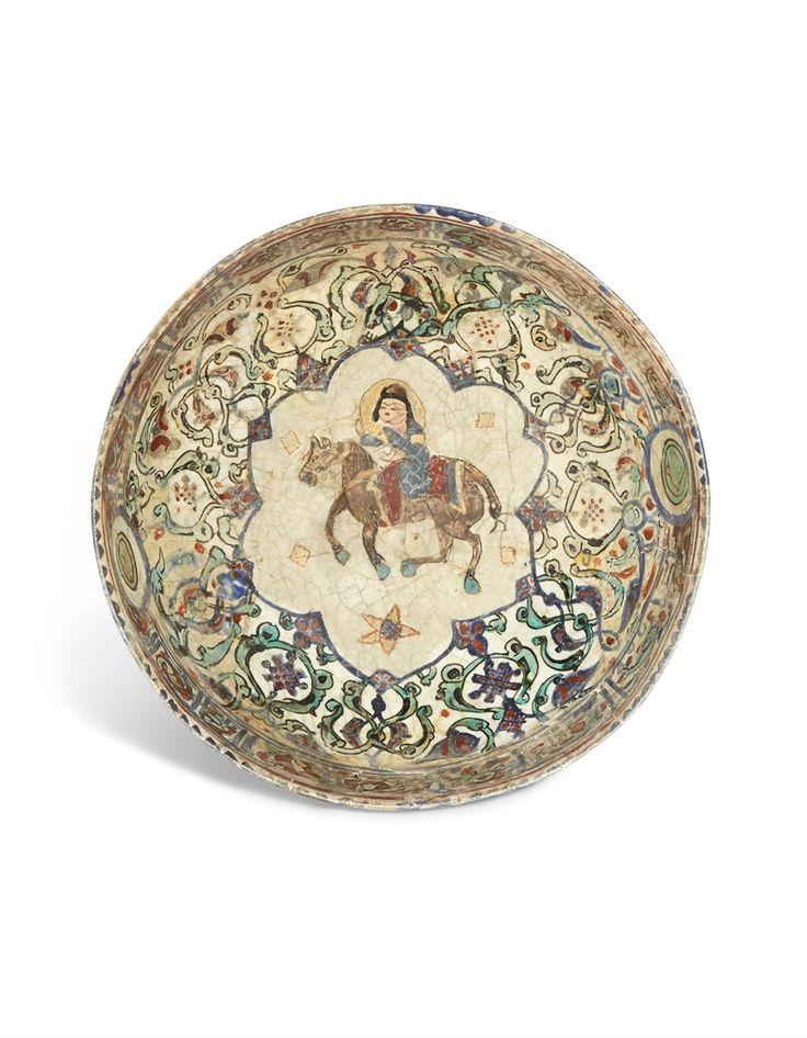 A MINA'I POTTERY BOWL -  SELJUK IRAN, LATE 12TH/EARLY 13TH CENTURY.