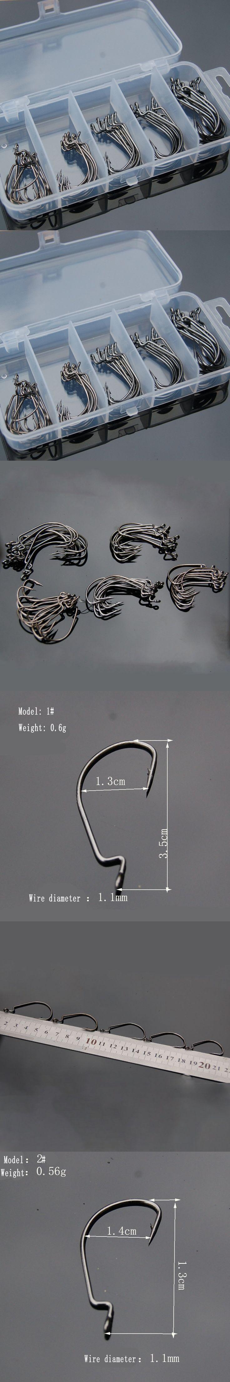 High Carbon steel fishing hook 50 Pcs 1#2# 1/0# 2/0# 3/0# hook fishing hooks anzol para pesca Soft bait haken barbe gancho anzol