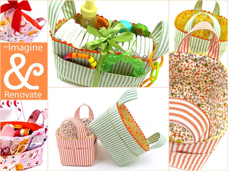 Re-imagine & Renovate: Structured Fabric Task Baskets