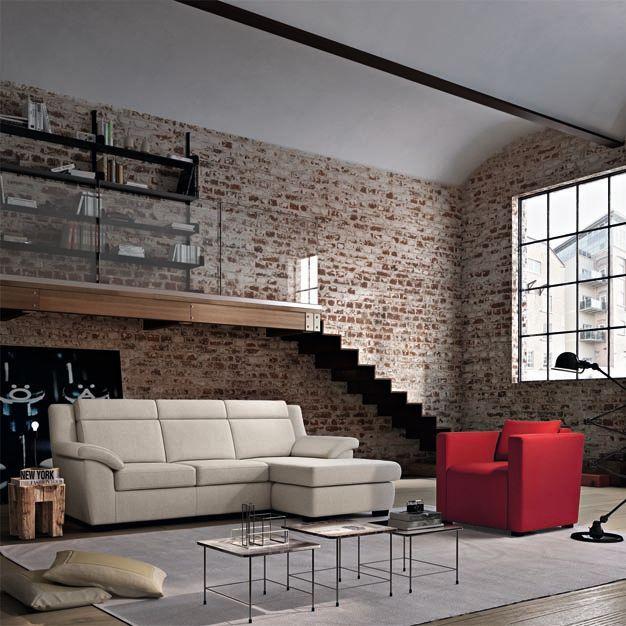Poltronesofà: LEMIA  Disponibile nelle versioni 4 posti seduta lunga L:248cm. P:154cm. H:93cm.