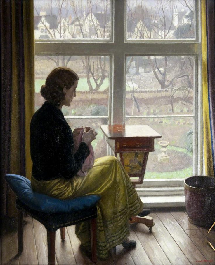Harold Knight ( British, 1874-1961)  A Window in St John's Wood, c1932