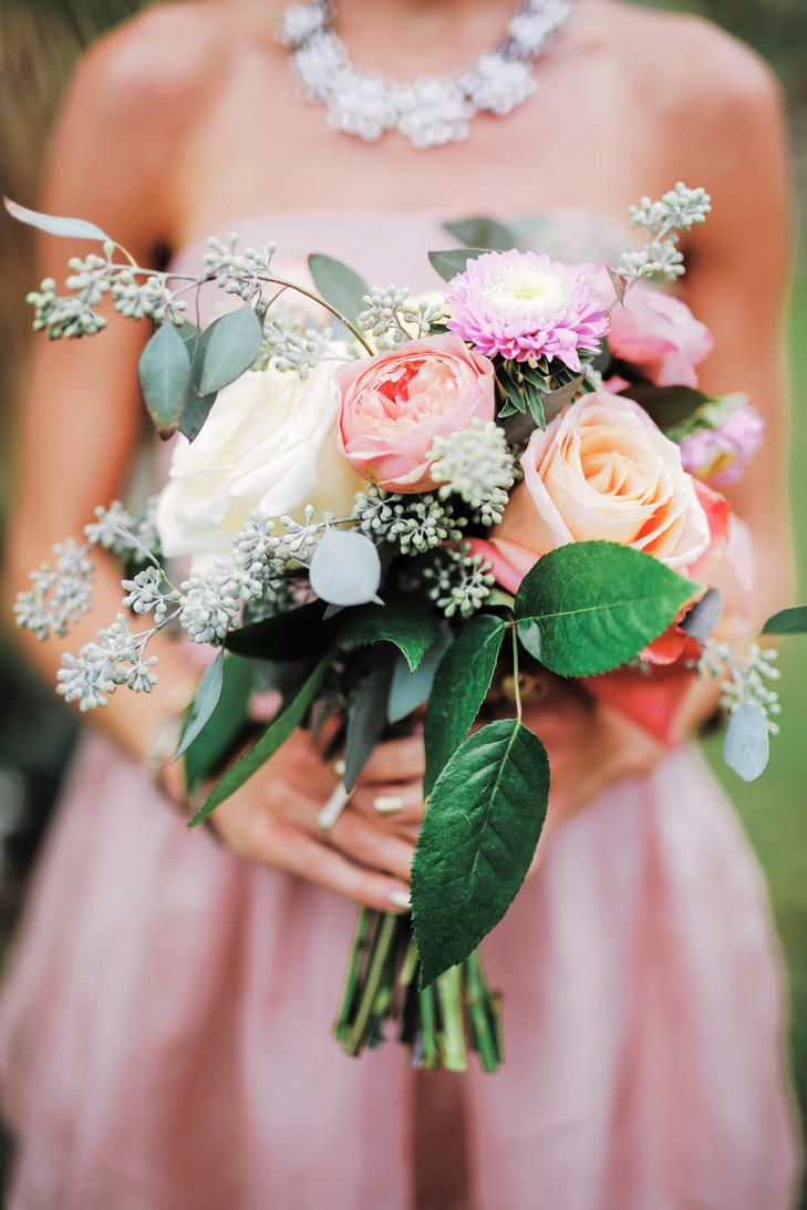 rustic pink rose and peony bouquet gideon photography httpknot