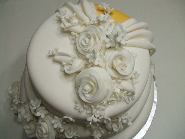 Top of Double Sided Wedding Cake