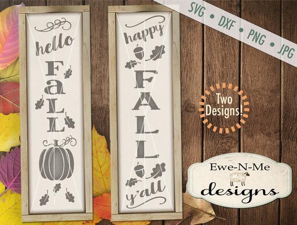 Hello Fall Happy Fall Ya Ll Vertical Svg Happy Fall Y All Hello Autumn Happy Fall