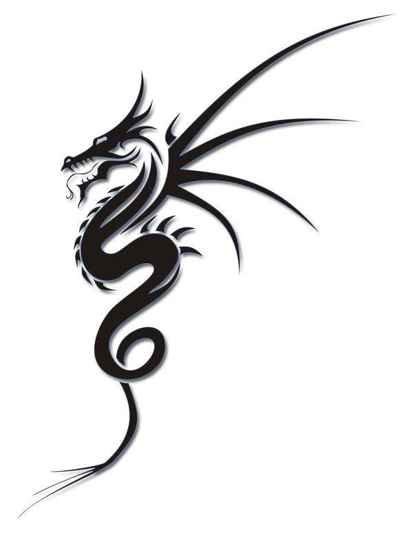 Cool Tribal Dragon Tattoo Design  #dragon #tattoos #tattoo                                                                                                                                                     More