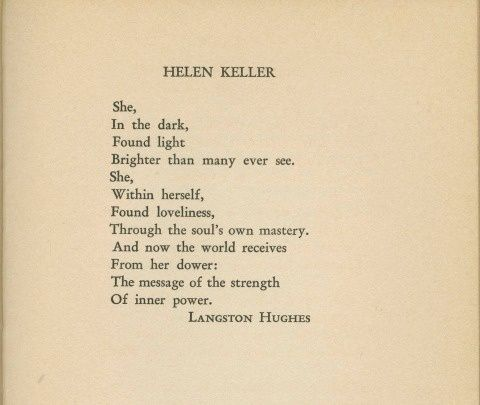 hughes variety of poetic and literary Or visual imagery, which are the seven major types that literary authorities  recognize  langston hughes uses it in his poem, harlem, which focuses on.