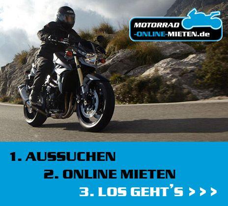 Motorräder online mieten