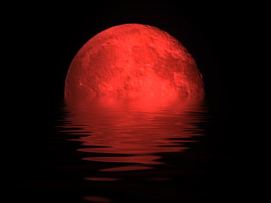 red moon at night meaning - photo #7