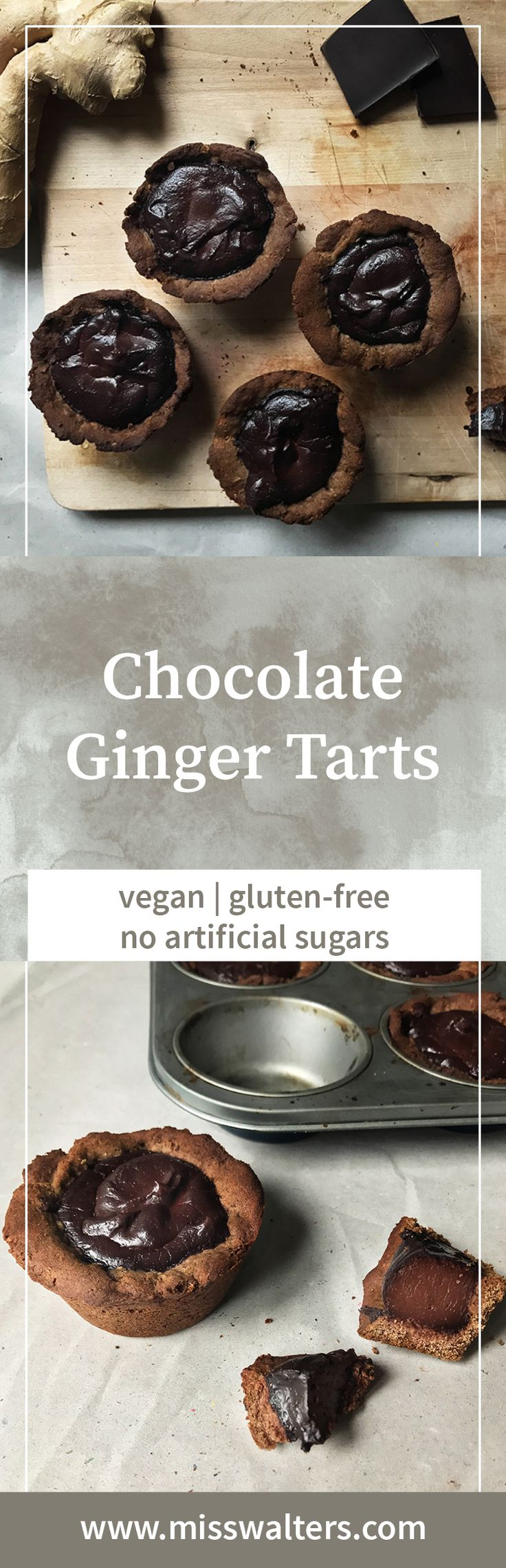 These chocolate ginger tarts a real vegan treat. Gluten-free and naturally sweet as an added bonus.