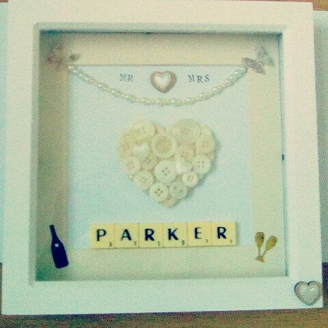 This is a new personalised frame I recently designed. Perfect wedding or anniversary gift.
