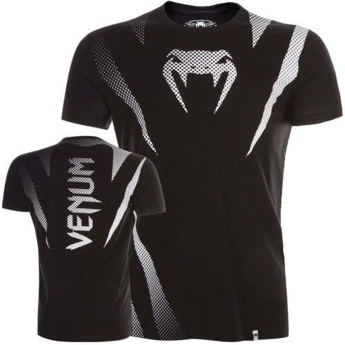 VENUM-T-Shirt-Jaws-schwarz-Top-MMA-Muay-Thai-Tee-Fitness-Fightwear