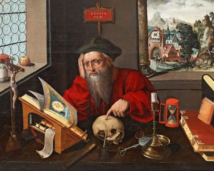 Studio of Marinus van Reymerswaele (Dutch, lived circa 1490–d. ca. 1567) Saint Jerome in his study See also http://www.artnet.com/artists/marinus-van-reymerswaele/saint-jerome-in-the-study-quBcD95O4N8vEMxw5O6V2g2