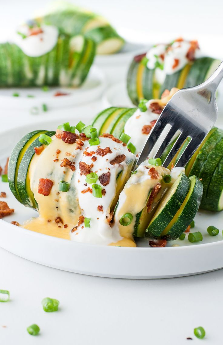 This was pretty much the best thing I put in my face all week. Fully LOADED Hasselback Zucchini!!!