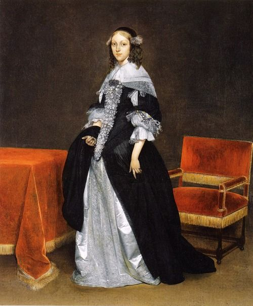 Portrait of a woman by Gerard ter Borch, c. 1663