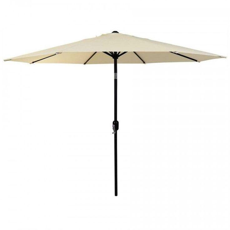 Garden Parasol Umbrella Aluminium Outdoor Patio Sun Shade Structure Canopy White #GardenParasolUmbrella