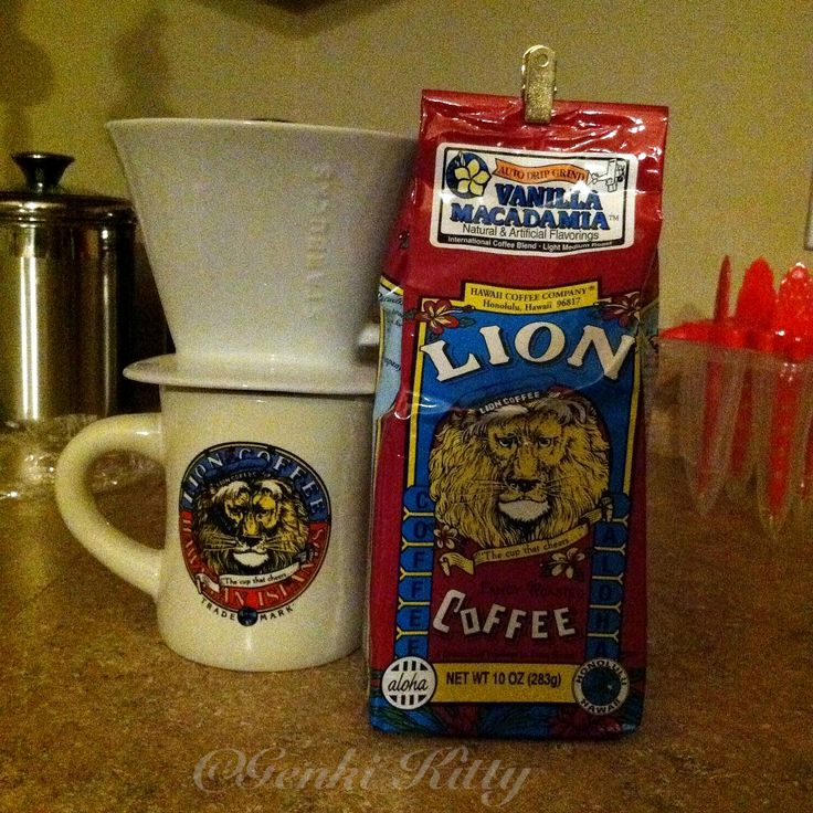 Making Lion Coffee at home