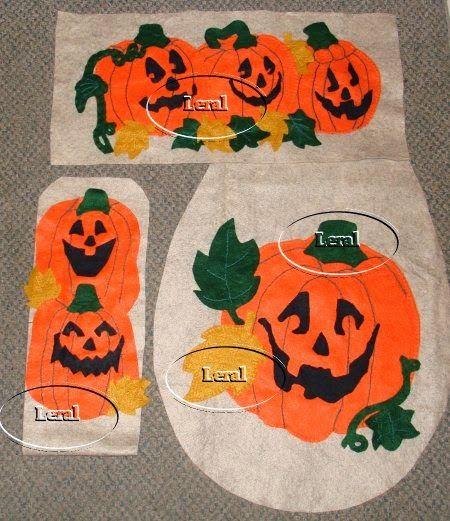 juegos de baño halloween | Juegos de baño para Halloween en fieltro - Imagui