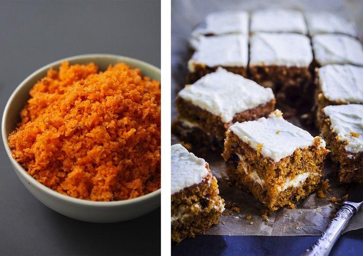 Pour tout recycler et obtenir un carrot cake ultra moelleux ! La star =la pulpe de carotte (obtenue par un extracteur de jus) On fait comment ? On se prépare un délicieux jus de carotte à l'extracteur et surtout on ne jette pas la pulpe récupérée. Non seulement elle peut être utilisée en salade, mais elle sa consistance est idéale pour être incorporée dans un carrot cake. A tester sans plus tarder si vous avez un extracteur !