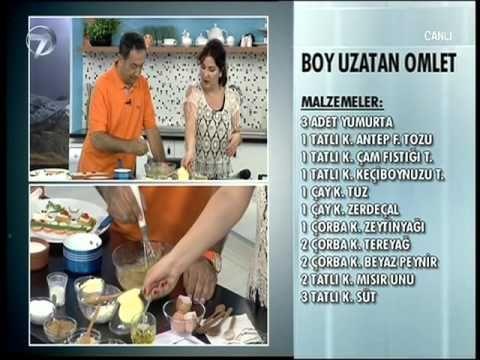 Dr. Feridun Kunak'tan Boy Uzatan Omlet Tarifi