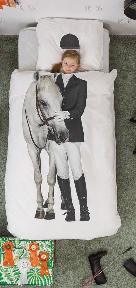 Dit Amazone dekbedhoes van SNURK beddengoed is voor de echte paardenliefhebbers. #Girls #Beddengoed #Snurk