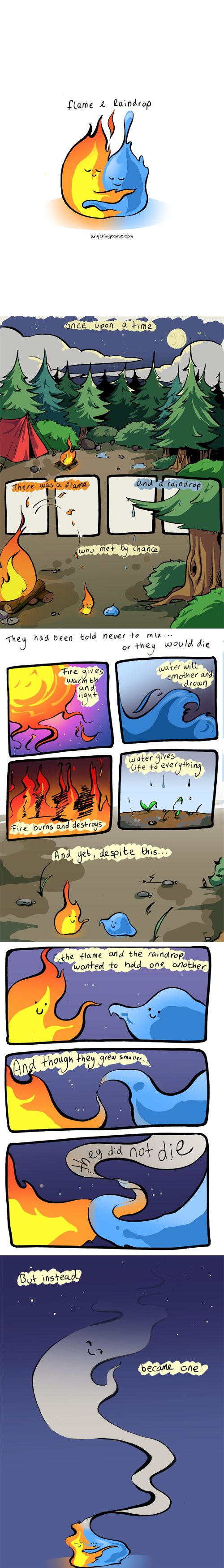 Anything about nothing :: Comics - The Flame and the Raindrop