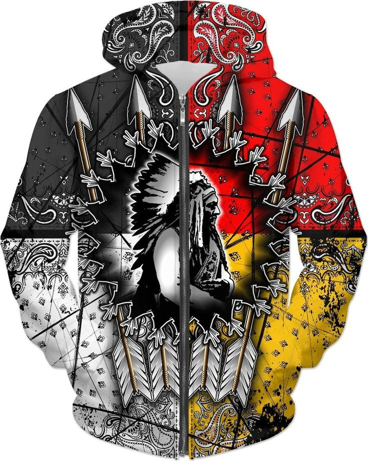 Native American Chief Zipper Hoodies - Exclusive Edition