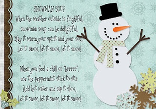 snowman soup printable and cup to hold hot chocolate with snowman design (GO SEE!)