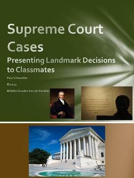 Why not combine several useful skills into what can be perceived as a dull topic? Contained within this list of 15 landmark Supreme Court cases are activities geared toward research and presentation of a case by partners in the classroom. You may choose to modify the lesson to include multimedia in presentation or expand upon the list of cases.