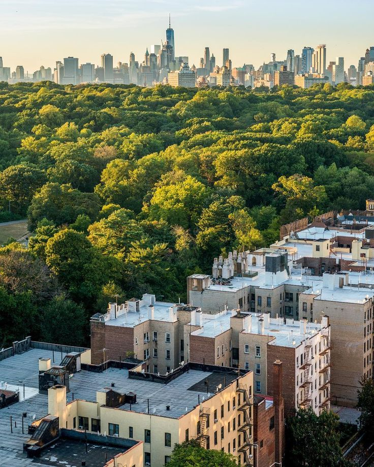 Brookyns Prospect Park with the skyline of Manhattan in the distance. : @camilleschaer for @NYCgo #newyorkcityfeelings #nyc #newyork