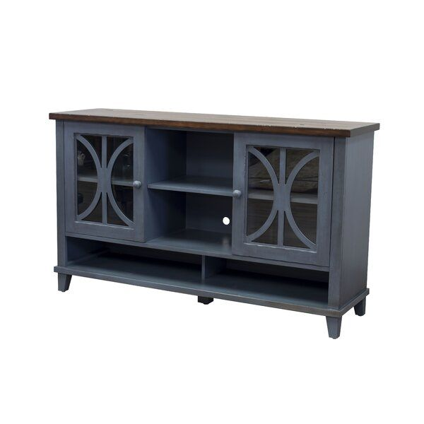 Rabinowitz Tv Stand For Tvs Up To 78 With Images Blue Tv