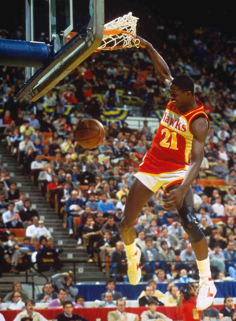 The Human Highlight Film, Dominique Wilkins lit up the Omni night after night!  May be the best dunker ever.
