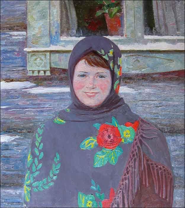 Борисов вениамин Деревенская девушка 1986 г.