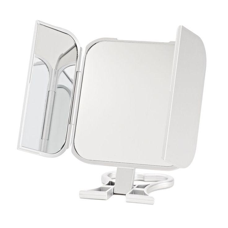 Danielle Creations Tri-Fold Mirror, Silver