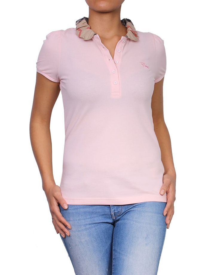 BURBERRY BRIT - Women's Polo YNG81270 - Pink (Carnation Pink), M