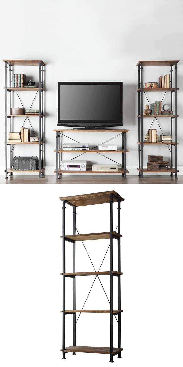 Give your room a rustic accent with this vintage styled bookshelf. The table features distressed surfaces for a warm, worn look. Black wrought iron frame adds character and charm. Great in the living room for books and display items. At least one Home Depot customer is using the Grove Place shelves as kitchen shelving. (Several sizes available.)