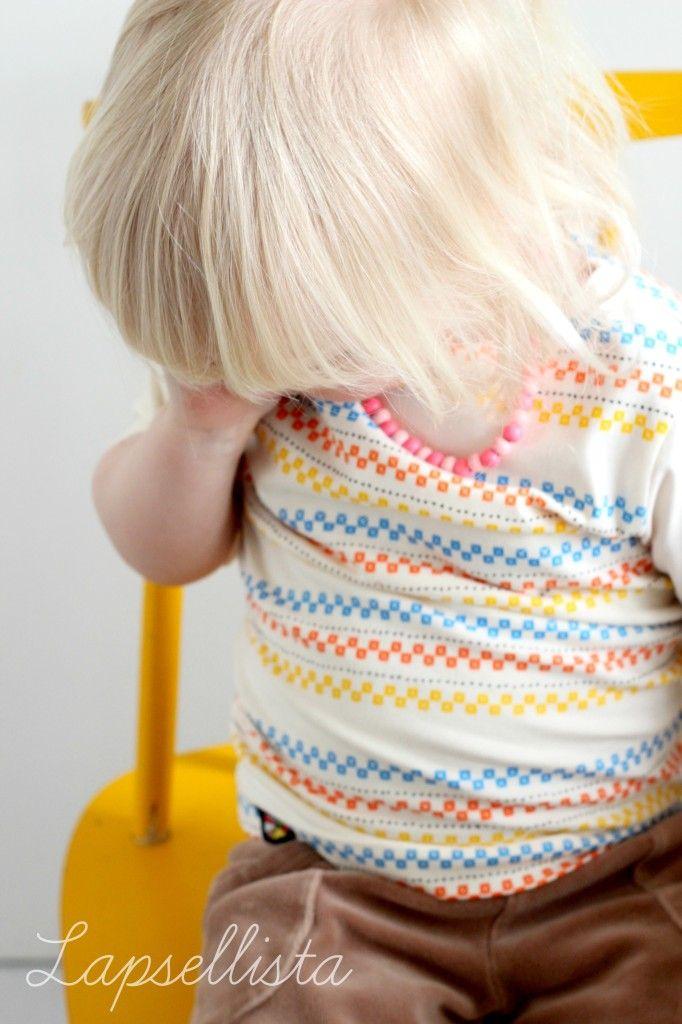 Vuoriortan tunika Lapsellista-blogin pienokaisella <3