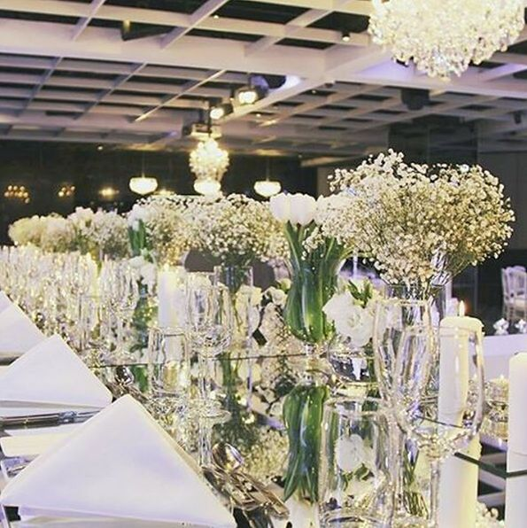 Can't go past a mix of crisp white and dazzling glassware... Styling by House of Doltone at Doltone House Darling Island Wharf.