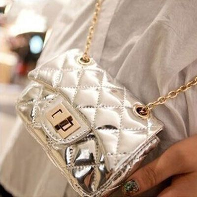 2014 summer Quilted metal chain shoulder bag small bag Messenger bags mini phone bags