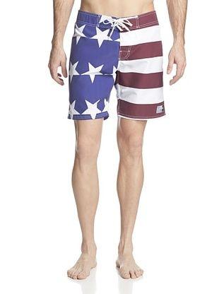 55% OFF ambsn Men's Home Boardshort (US Flag)