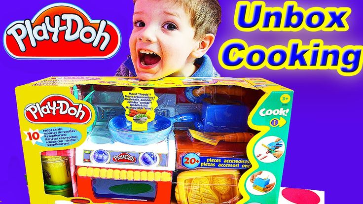 Its Kids Play Doh Kitchen Playset Food Cooking Toys Pack Opening Review ...