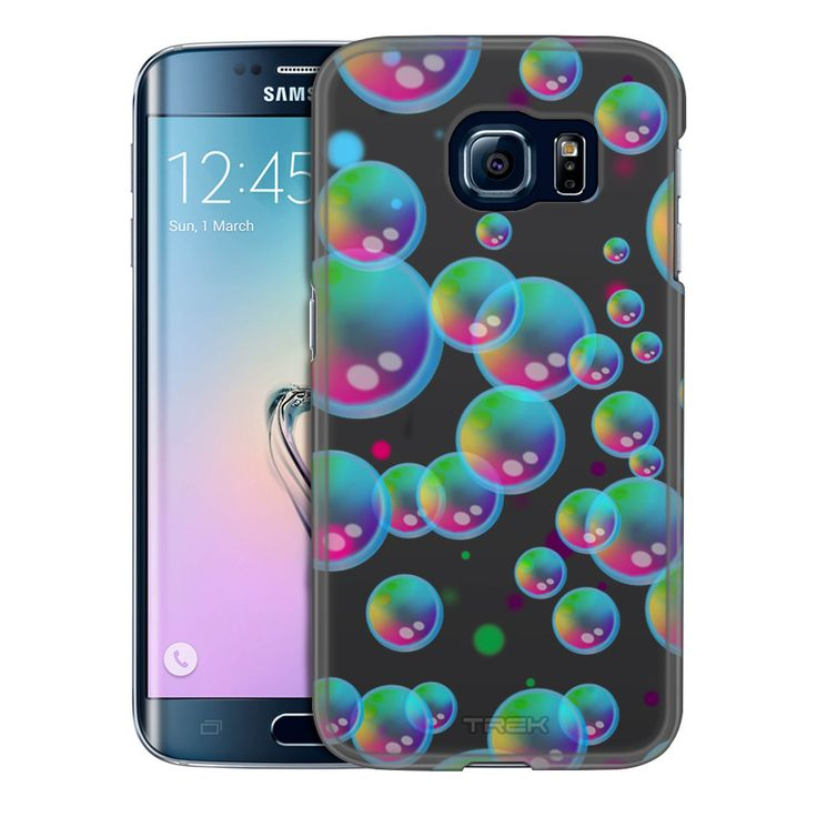 Samsung Galaxy S6 Edge Psychedelic Bubbles on Black Trans Case