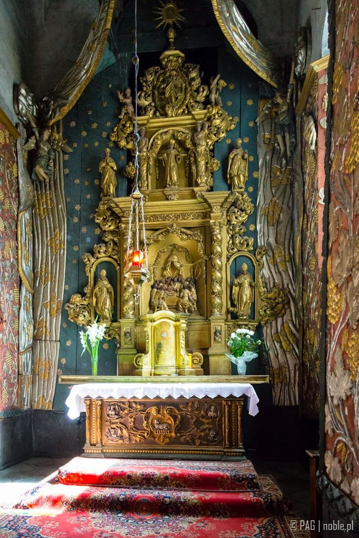 The lateral chapel of the Assumption of the Blessed Virgin Mary church in Chelmno (Culm), Poland
