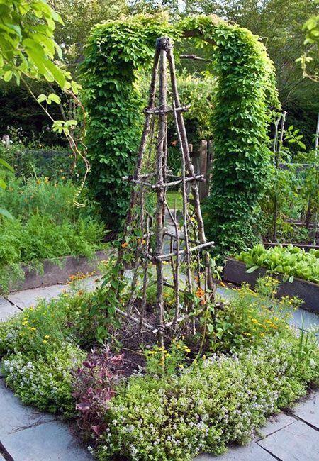 Plus de 30 projets de jardinage utilisant des bâtons et des brindilles
