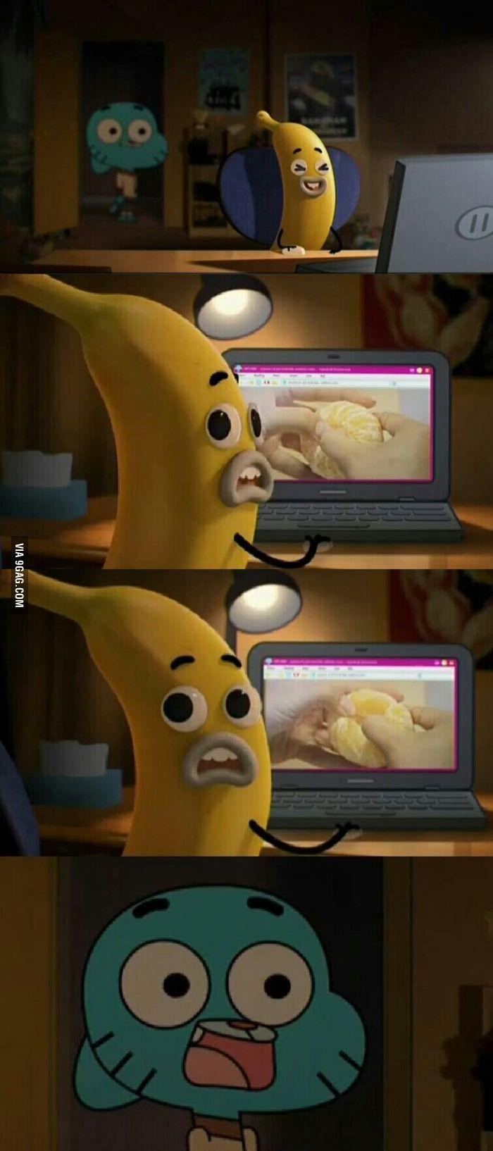 Banana up ass porn