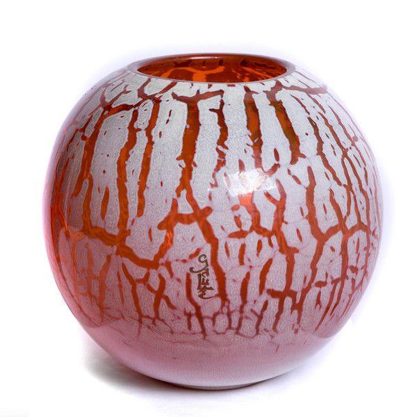 Galle bulbous craquele vase 1925