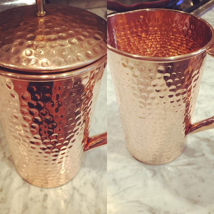 Ok peeps! Water out of this gorgeous copper pitcher!!! Cannot wait! Health benefits galore!!! Yeah!! #hydration #corefocus #shantiva!