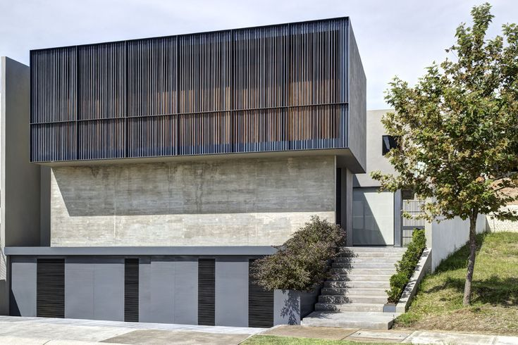 Built by Elías Rizo Arquitectos in Zapopan, Mexico with date 2013. Images by Marcos García. Casa DTF presented a challenge akin to that of casa Oval; both houses were built within the confines of a private res...