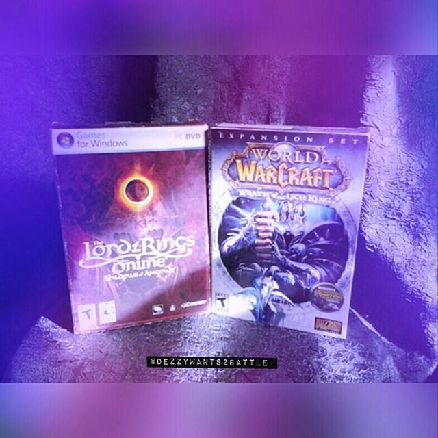 Heres some #lotr & #wow Its old but who cares ♡♥♡♥♡♥ . . . . . . . . . #lotr #wow #lichking #games #online #pc #mmo #rpg #repost #gamer #movie #book #expansion #blizzard #old #wrathofthelichking