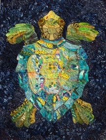 Serendipitous Sea Turtle #quilt by Susan Carlson